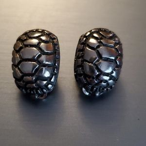 Sterling, clip on turtle shell